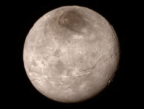 charon - première photo (crédit:NASA)