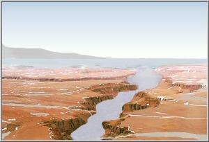 Mars vue d'artiste